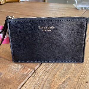 Kate Spade Black Leather Wristlet